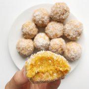 Cashew Coconut Carrot Cake Bites