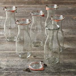 almond milk jars